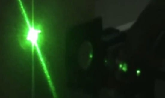 MyLaser system in a dark testing room