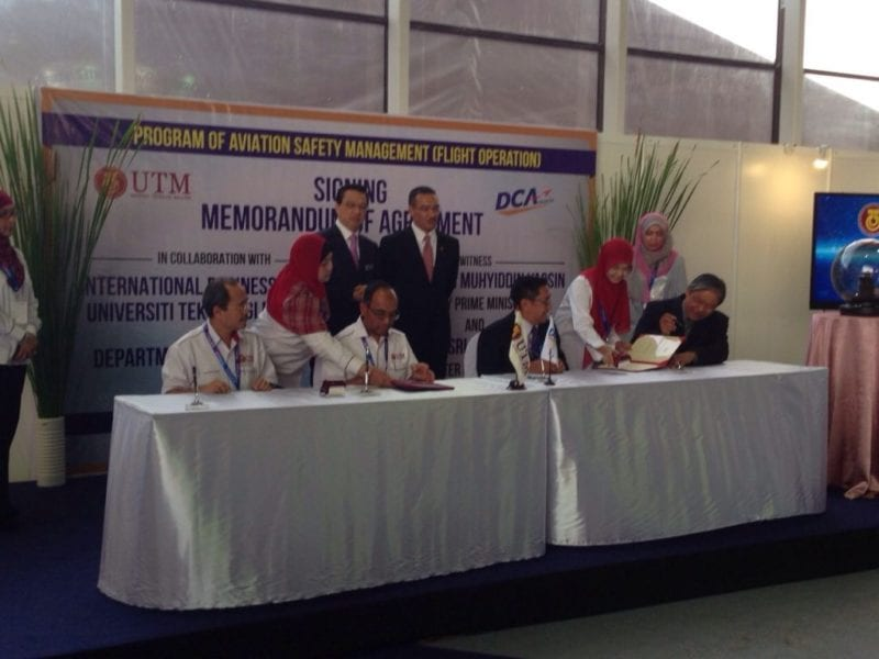UTM-IBS and DCA Malaysia to Offer Aviation Safety Management (Operation) Program