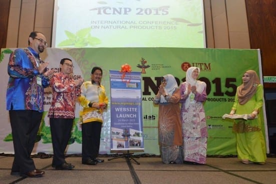 From left : Prof Ibrahim Jantan, Prof Ahmad Fauzi Ismail, Hj Ismail Karim and Prof Norsahaida at the launching ceremony of ICPN 2015 and MNPS Website at Double Tree Hilton, Johor Bahru.