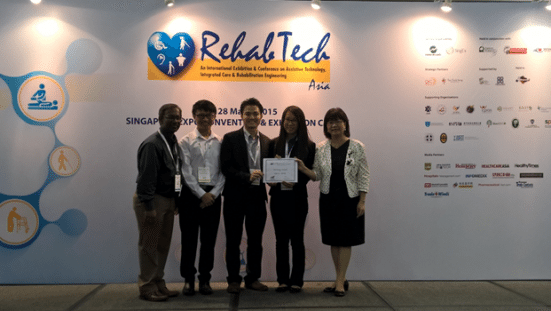 UTM team after winning the pitching award in Singapore