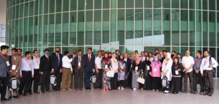 The participants of ICCSS 2015 taking group photo at the end of the conference held at FBME, Johor Bahru campus.