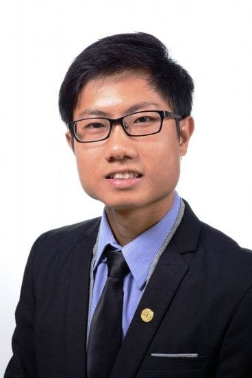 Jason Ang Wei Lung from UTM was selected to receive the Emerging Scholar Award 2015 from the Golden Key International Honor Society.