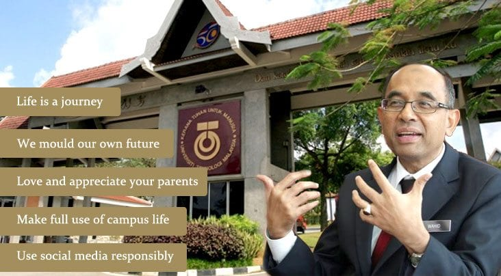 VC's Take Home Message for UTM Students
