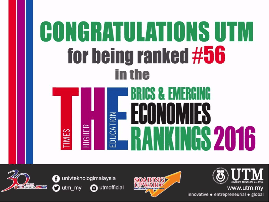 Sustaining a League of Excellence: #56 in THE BRICS & Emerging Economies Rankings 2016