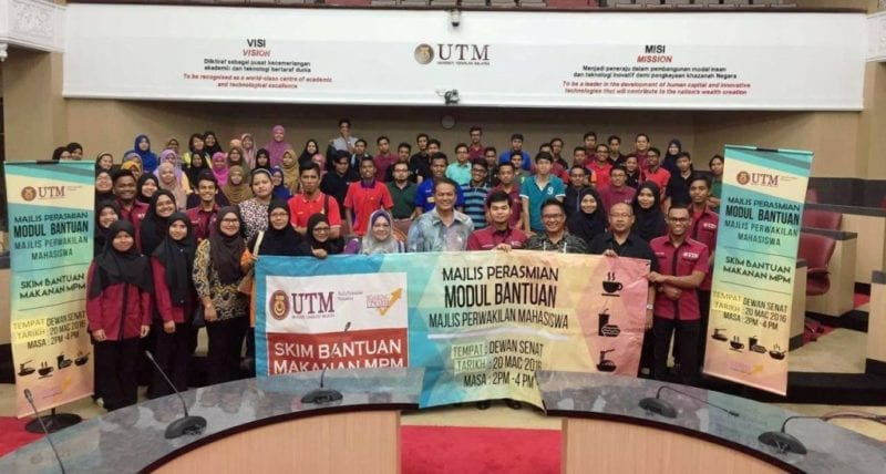 UTM's Less Fortunate Students Receive MPM Food Aid Scheme