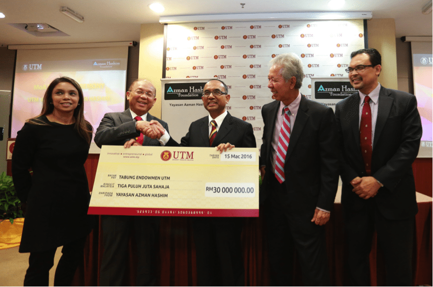 Yayasan Azman Hashim Contributes RM30 Million to UTM Endowment