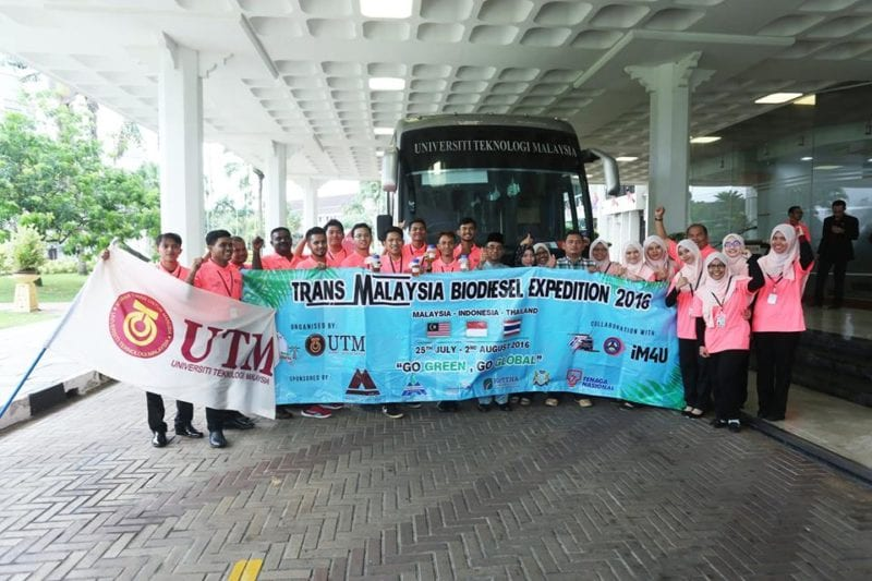 16 FKT First Year Students participate in 8th Trans Malaysia Biodiesel Expedition