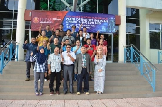 The Instructors and participants of Plant Operators course of Eastman (M) Sdn. Bhd. at IBDUTM Johor Bahru.