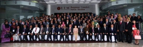 A group photo of UPF 2016 delegation which attended the forum held at UTM Johor Bahru.