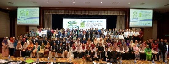 The local and international participants of ICBWI 2016 taking a group photo at Equitorial Hotel, Malacca after the closing ceremony