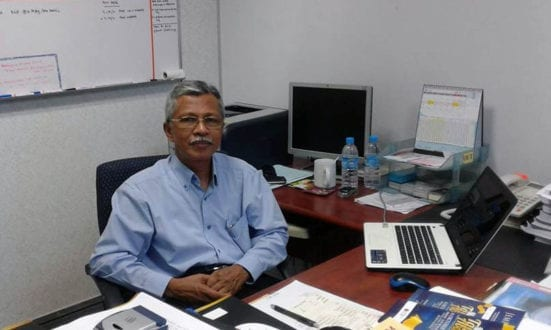 Prof. Dato' Dr. Ahmad Darus at his office