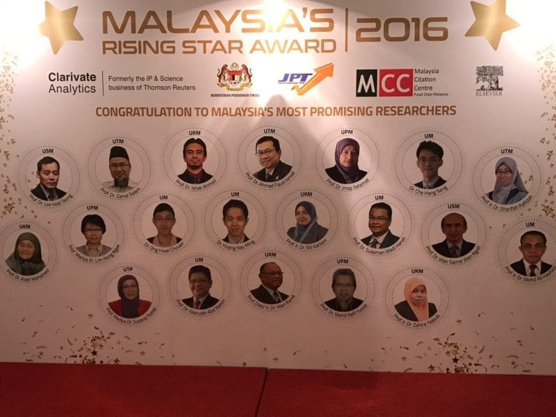 UTM Professors selected as Malaysia Rising Star Awards recipients