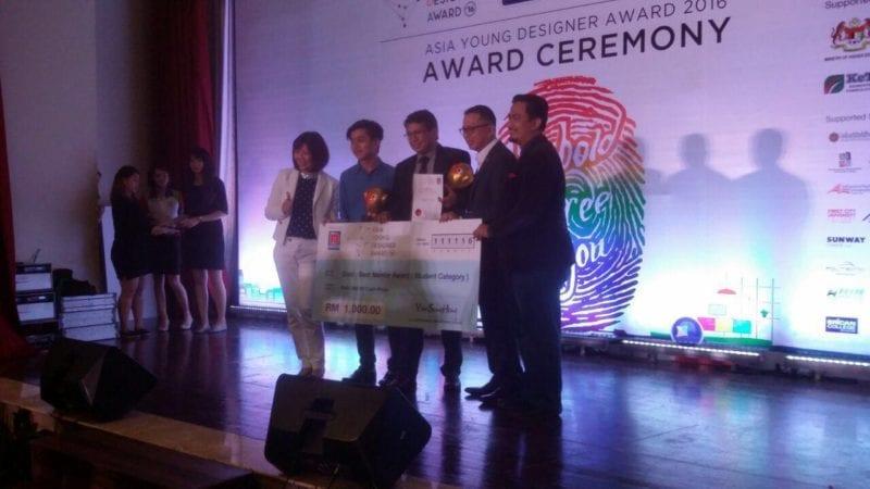UTM won gold award at the AYDA 2016