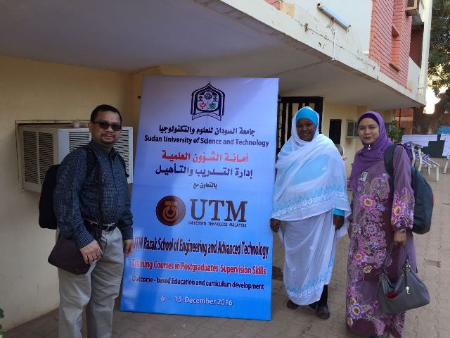Four UTM lecturers conduct Training Programmes in Sudan