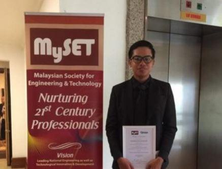 UTM Civil Engineering graduate receives MySET-Ikhtisas Student Excellence Award of 2017