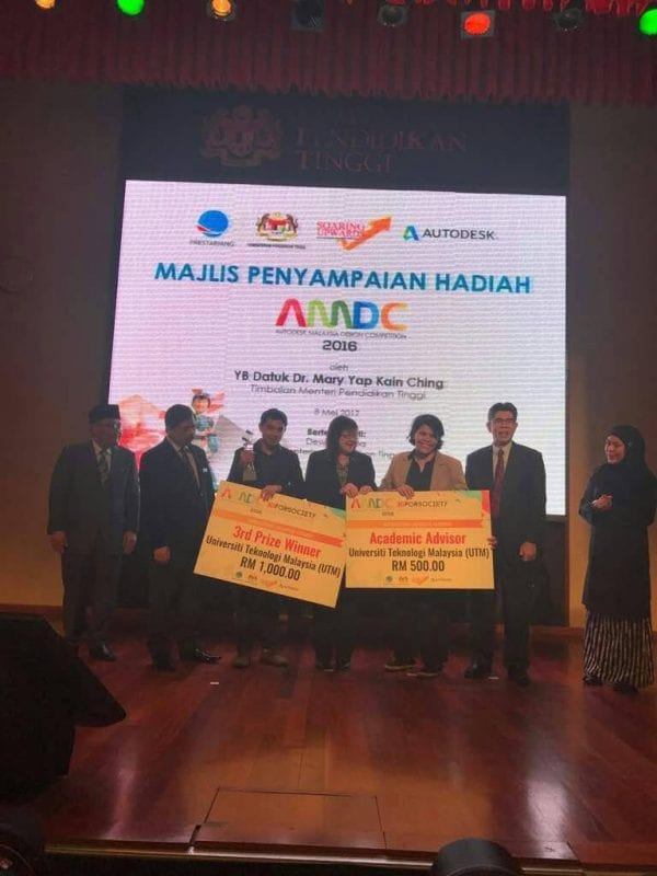 UTM FAB Architecture wins 2nd & 3rd in Autodesk Malaysia Design Competition 2016