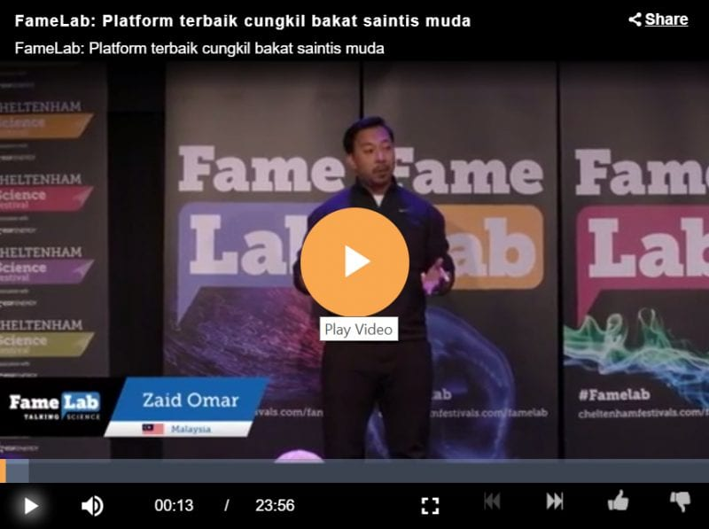 Young UTM lecturer represented Malaysia in FameLab International