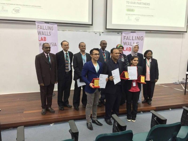 UTM Lecturer won Falling Walls Lab Malaysia 2017