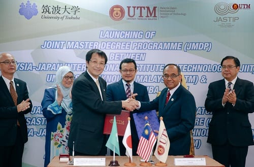 Launching of Joint Master Degree Programme (JMDP) between University of Tsukuba, Japan and MJIIT, UTM