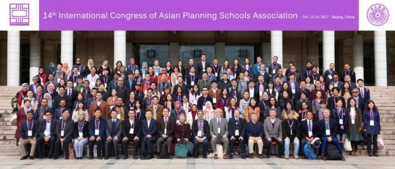 14th International Congress of Asian Planning Schools Association (APSA 2017), Tsinghua University, Beijing, China