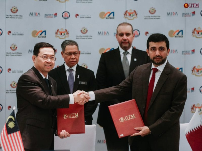 Signing of Agreement between UTM  and Qatar University