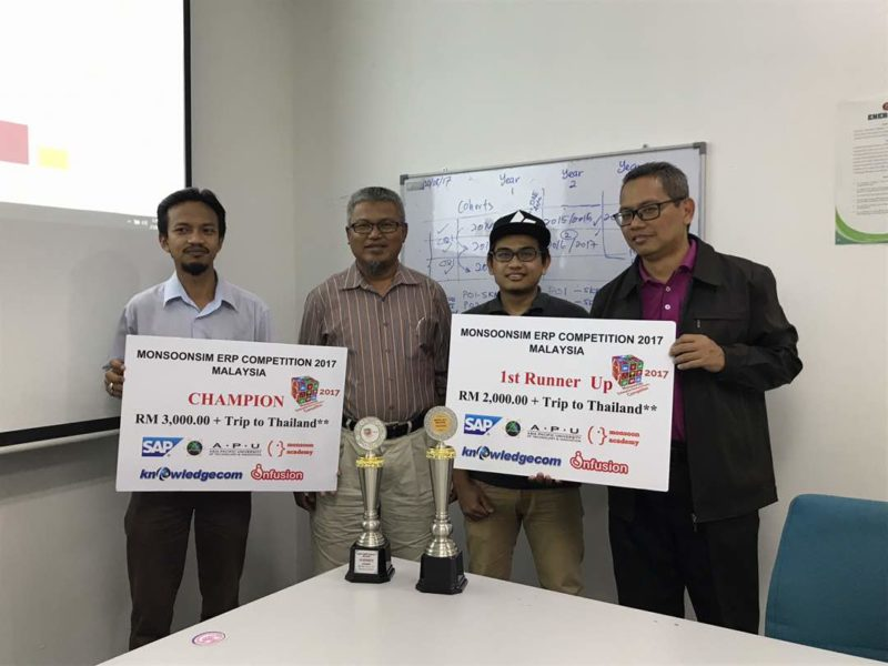 Dua pasukan UTM wakili Malaysia ke Regional MonoonSIM ERP Competition 2017 di Bangkok