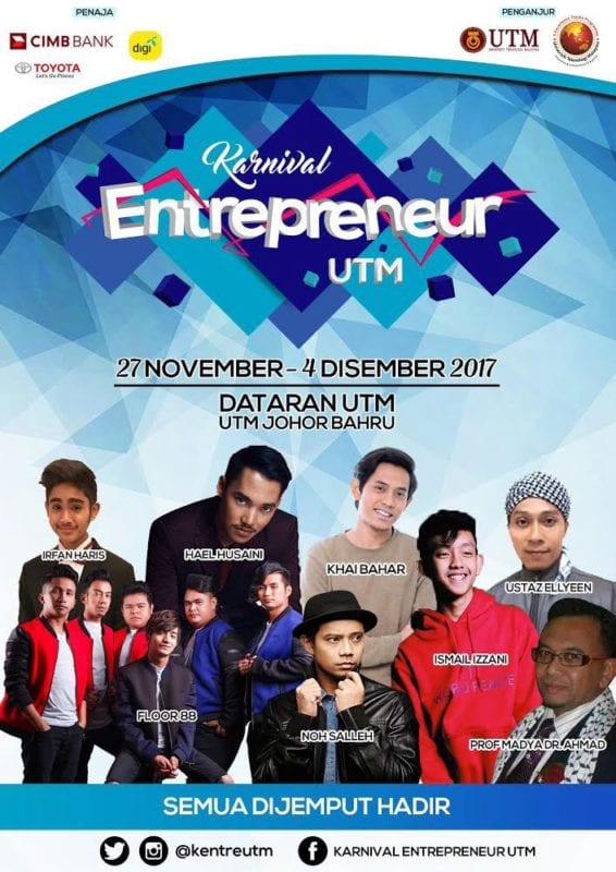 Artis muda meriahkan Karnival Entrepreneur UTM 2017