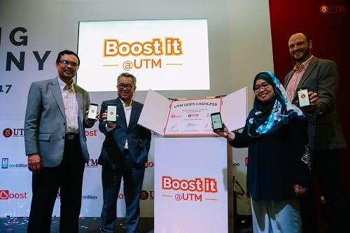 "Boost partners with Universiti Teknologi Malaysia to create the country's first ""Cashless Campus"""