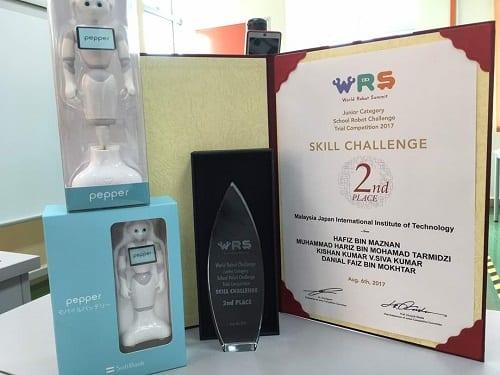 MJIIT Cemerlang di Pertandingan High School Junior Robotic@World Robot Summit (WRS)