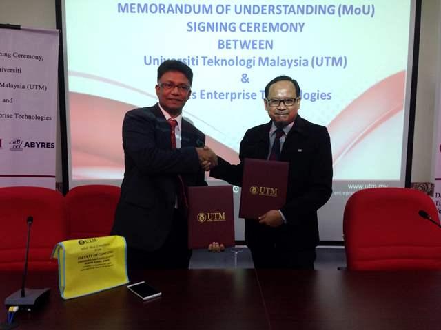 UTM dan Abyres bekerjasama dalam bidang Sains Data