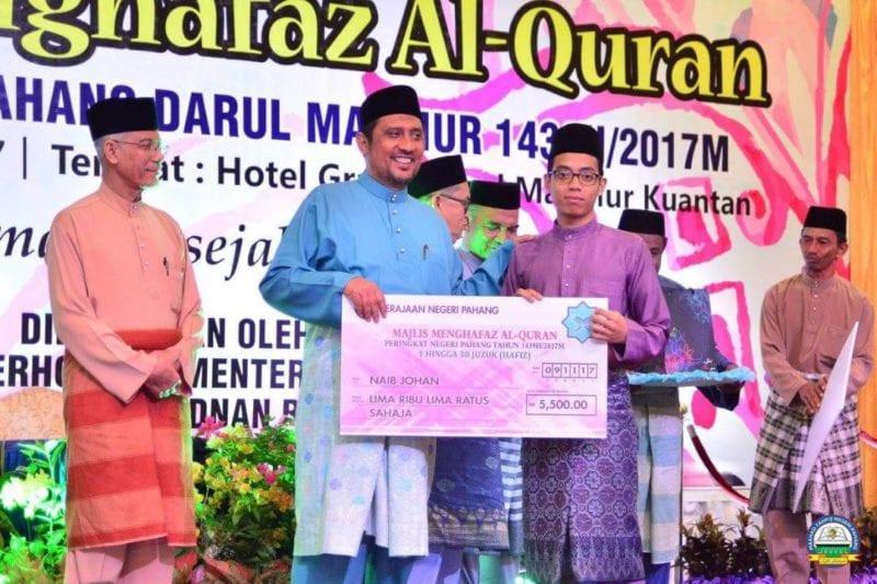 Mahasiawa UTM naib johan hafazan al-Quran