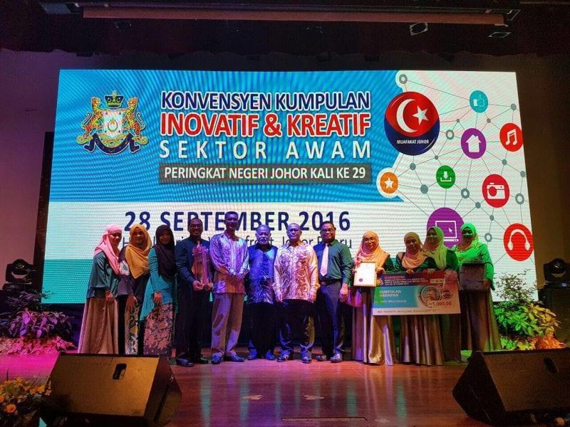 Kumpulan KIK UTM menang Anugerah Harapan di Konvesyen KIK Johor