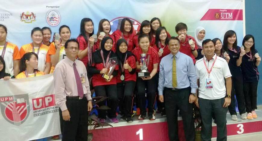 Pasukan Bola Tampar Wanita UTM sumbang pingat emas dalam MASUM 2016