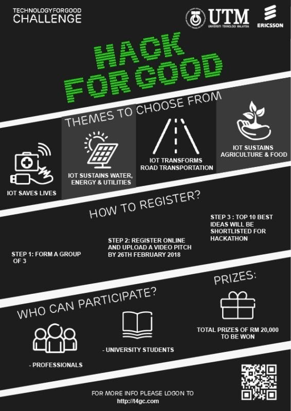 Invitation to Participate in the Malaysia's First Cellular Internet-of-Things Hackathon