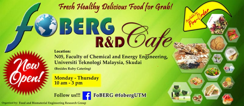 FOBERG R&D Cafe – A Research and Innovation Hub for Food and Biomaterials Product