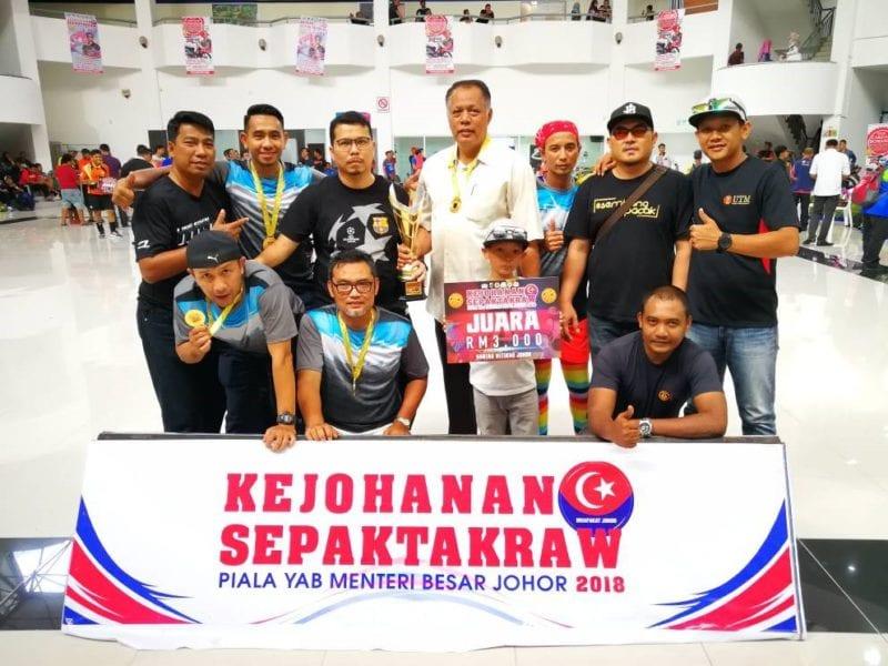 UTM A juara sepak takraw piala Menteri Besar Johor