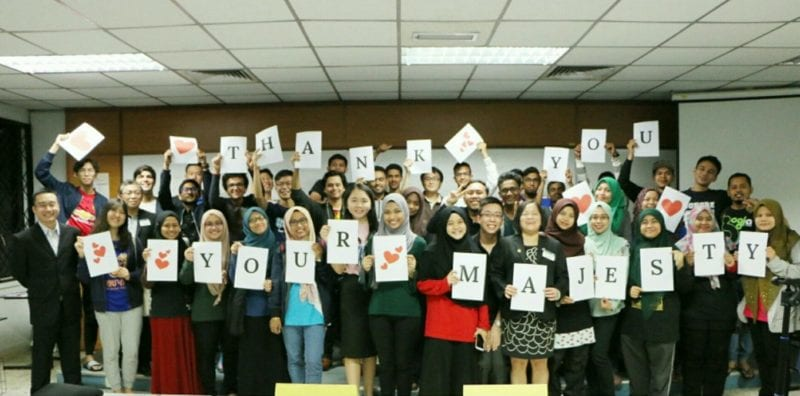 Her Majesty Raja Zarith Sofiah sponsored membership fees for 30 UTM ACES Toastmasters
