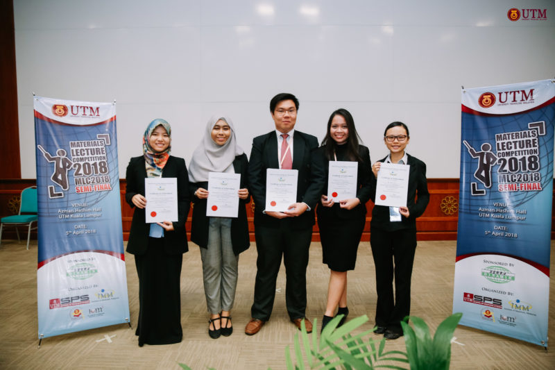 UTM among the Top Five Finalists in National Materials Lecture Competition (MLC) 2018