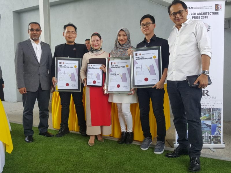 THREE STUDENTS FROM FACULTY OF BUILT ENVIRONMENT, UTM WON PAM-ZSR ARCHITECTURE PRIZE 2017