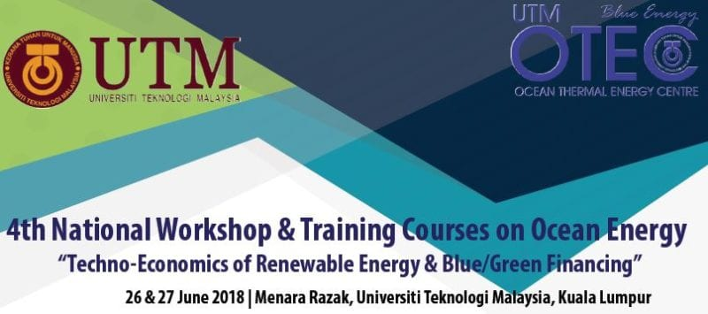 4th National Workshop & Training Courses on Ocean Energy 2018