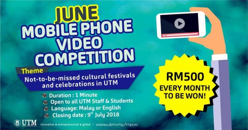 Mobile Phone Video Competition | RM500 to be won!! Open to all staff and students