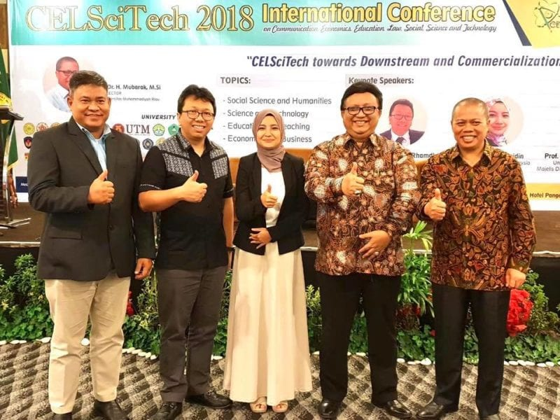 Dr. Syafiqah from UTM invited as Keynote Speaker at CELSciTech 2018, Riau, Indonesia