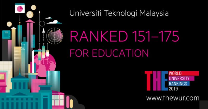 UTM Listed in THE World University Rankings for Business & Economy and Education subject
