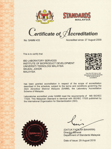 IBD Laboratory Services Maintain Accreditation Status of ISO/IEC 17025