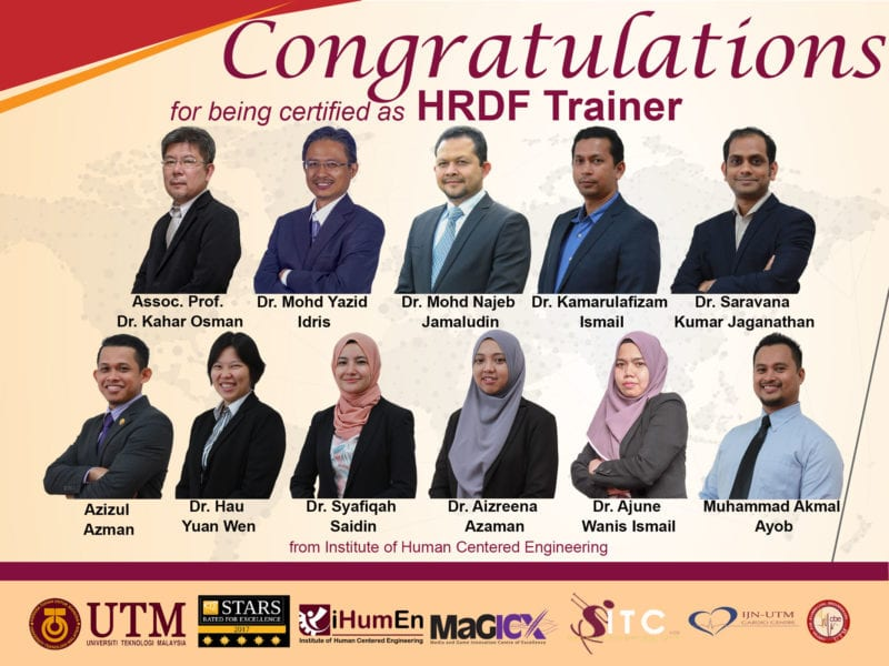 HRDF Certified Trainer – Institute of Human Centered Engineering