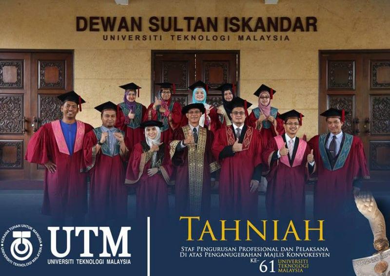 Konvokesyen UTM ke-61 : Tahniah Buat 14 Kakitangan Bukan Akademik!