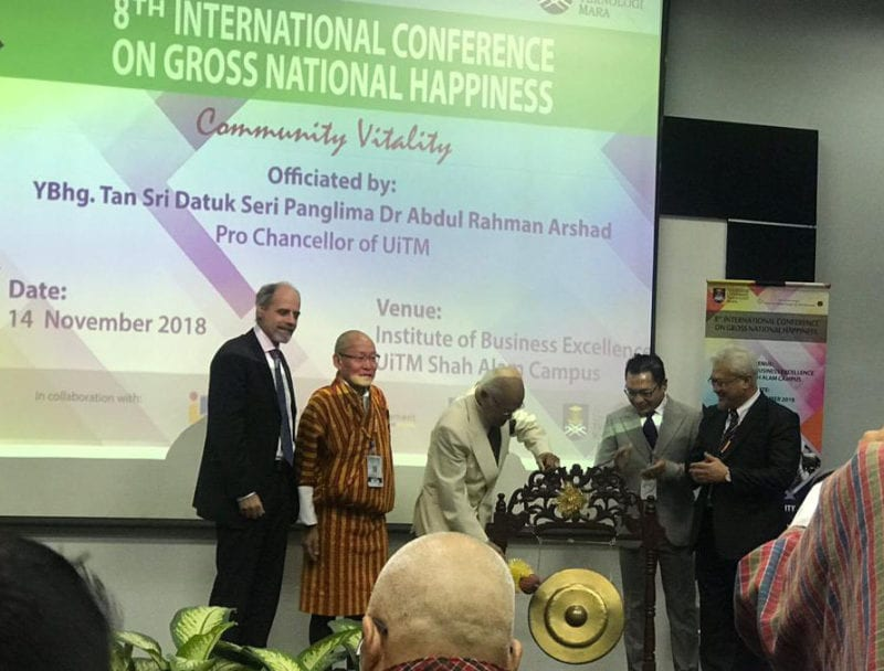 Three UTM students participate in the 8th International Conference on Gross National Happiness