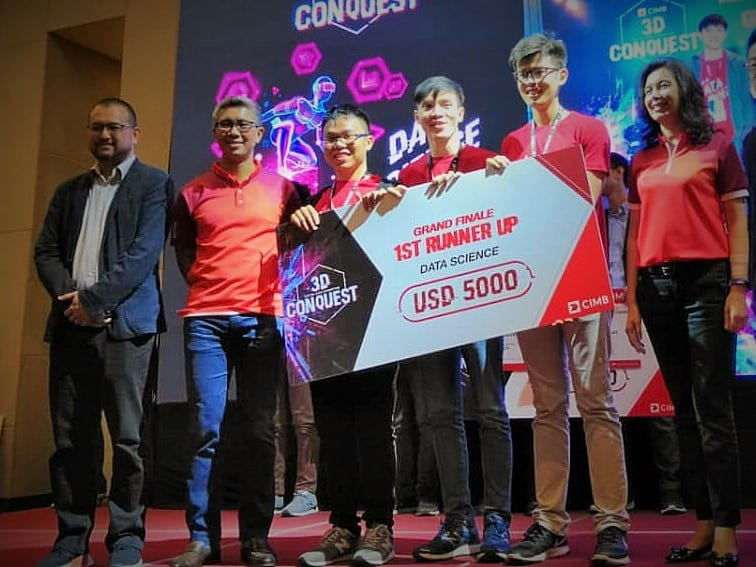 UTM students win 1st Runner Up prizes at CIMB 3D Conquest competition