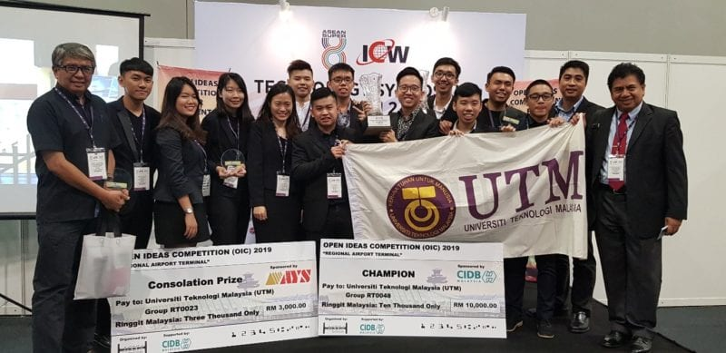 UTM Emerged Champion In The MSSA/CIDB Open Ideas Competition for Students (OIC-2019) Through Collaboration between FABU (Architecture) and SKA Staff and Students