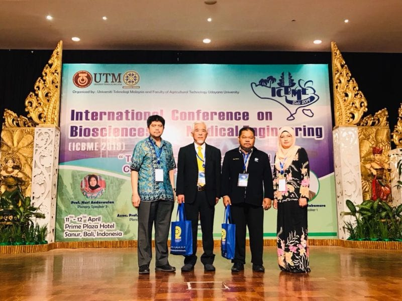 Global and Networking during The 2nd International Conference on Biosciences and Medical Engineering (ICBME2019) Organised by Faculty of Science UTM and Faculty of Agricultural Technology, Udayana University